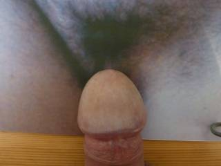 my cock nestling amongst your wonderful soft pubes...