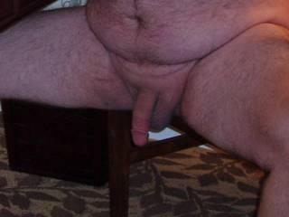 Weekend getaway at a luxury resort.  Hubby posing nude for me!