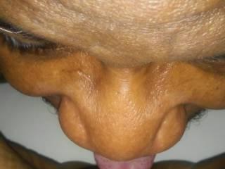 eating my lady friends pussy.  mmm mmm good.