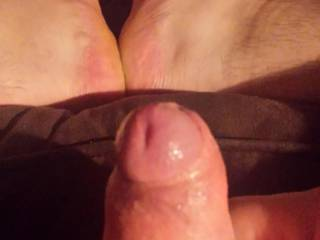 After sucking you dry and tasting your warm cum, I would suck your feet and let you stick your toes in my ass.