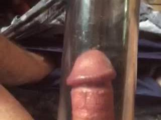 pumping my cock small to big, pump works great