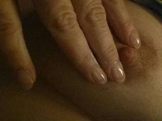 Just playing with my nipple. ..