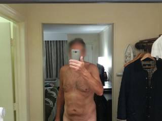 Hotel room in Syracuse,  NY. Love the big mirror.