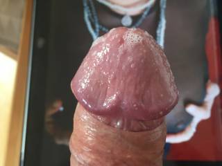 Picdetective makes my dick soo wet!! dripping lots of precum for u!! anyone else wants a tribute?