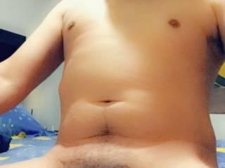 Hubby posing nude