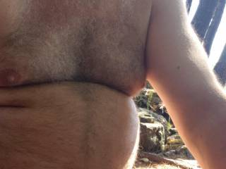 Just enjoying the outdoors nude today