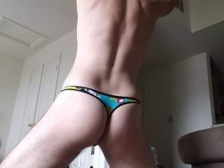 Firm believer that straight guys can rock thongs. Plus I think it makes my butt look pretty good.