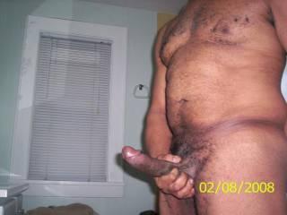 I see, nice hard cock.  I bet would love a good blowjob.  K