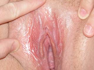 wife's pussy. nice and wet