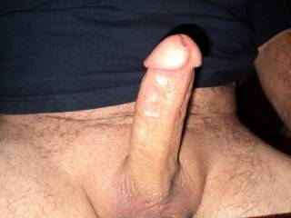 This is a great looking dick. Nice size, rock hard.