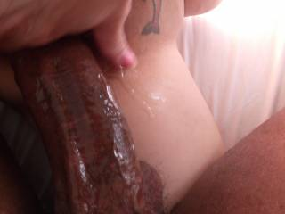 SHE WAS SO WET THAT IT MADE MY EBONY SHAFT SHINE WITH HER JUICES