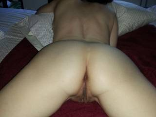 My hot friend spreading for me... Ass or pussy first? It was her pussy first ;)