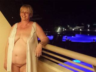 Very sensual, sexy and cuddly body has me wanting to cum and seduce right there out on the balcony!