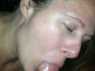 Just another deep throat video for the fans. She so enjoys showing off. Think she can get a bigger cock down her throat?? Love to find a couple to make new videos with test new stuff. Any suggestions ????? And y\'all should feel how wet her pussy gets.