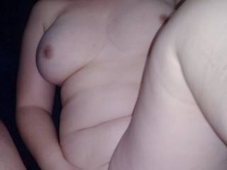 I love her huge tits and tiny nipples....and her pussy was really tight!