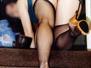 I\'m looking for cum tributes. Hubby says fishnets are slutty and will get the job done. What do you think? Am I jizz worthy?