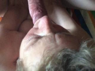 She looks so sexy doing that. Good wife. Love how she takes guidance as she sucks with you holding her head. Good wife!