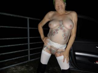 hi all I think you know now how much I like stripping off at night and walking along the road dirty comments welcome mature couple