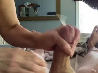 What a great blowjob by a great woman!  She makes me cum so hard! Anyone care to join us for the next round!