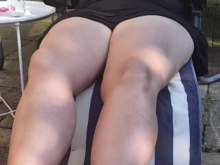 Tanning legs and feet