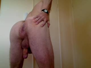 nice! would like to slide my hard cock in your hot ass while I reach around and jerk your hot cock!  love all your pics..get me so hard!