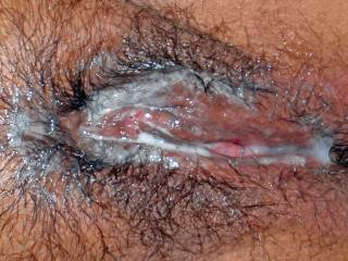 I soaked my wife\'s pussy in cum...would you like a taste?
