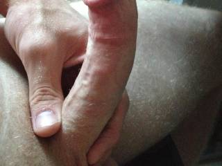 I would gag on that for hours before making you try and fit in my tight pussy. What a sexy cock! Wish you were closer ;)