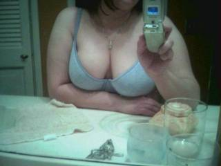 Oh more than that. You look wonderful. Nice boobs sexy girl.