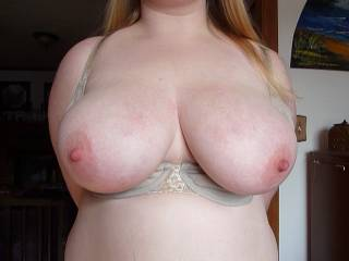 I just pulled her DDs out of her bra