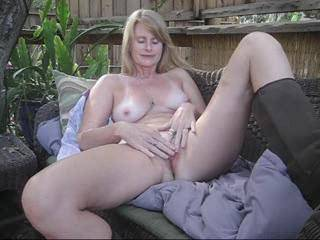 Gisela knows this location in her backyard is special to me, so she chose it to masturbate for me! Can you see why I\'m head over heels for this woman?!!