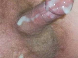 Another Big Load Running Down My Hot Cock
