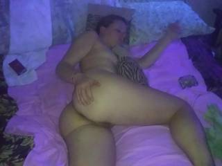 My wife is laying on the bed waiting for me to come fuc the shit out of her.