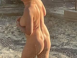Hot wife in the garden