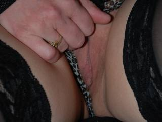 sweet looking pussy.  would like to see how wet you get your panties and sniff and lick them clean as i take them off then lick you making you squirt all over