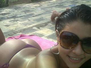 i love the beach n gettin some  sun in south america on vacation