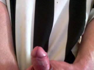 close up of my hard horny cock cumming