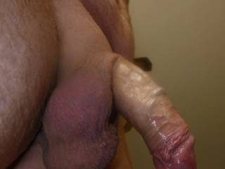 I'll play with your balls while I'm enjoying your cock....sucking it.  Mmmm do you cum a lot?  MILF K