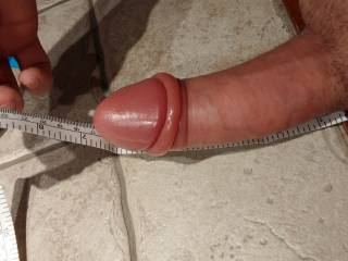 My penis length just after medium water pumping session...