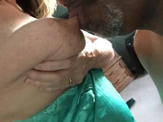 Like seeing him suck on my nipple?
