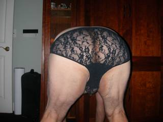 Very hot photo, love the ability to see your ass under the lace.