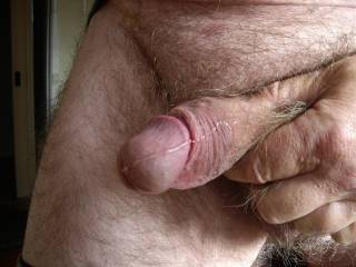 Dripping precum after playing