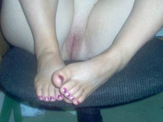 Very sexy. Me and wife would love to suck and lick that tasty looking clit.