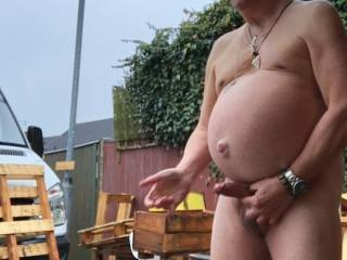 Couldn\'t wait to get clothes off and start wanking sooo risky
