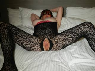 getting horny and wet by now and waiting for some thing to spread my pussy wide open