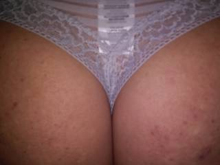 Just a close up of Melissa's thongs shes wearing to bed tonight.