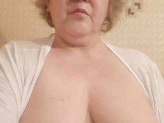 My Russian girlfriend showing her lovely tits for the first time