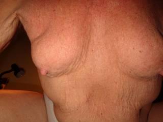 stern, hangin' boobies....  anybody wanna nurse?