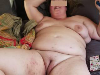 just fucked and filled my wifes pussy up with a fresh load of my cum, whos next in line for sloppy seconds?