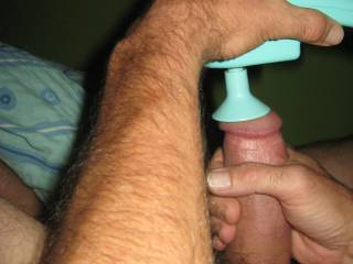 Because once the vibrator is properly positioned, there is no way to take a picture.