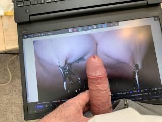Very good friend Tipofmytongue gets all hard whenever I tug and pull these nipples for him. He loves to rub all over these tight nipples, come on and cover them Tip....Love to see lots more tributes on our pix